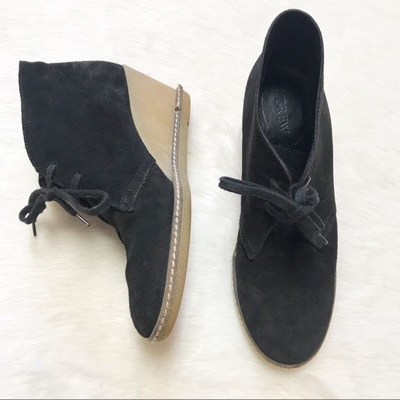 853a625a0b2b8 J. Crew Shoes | J Crew Macalister Black Suede Leather Booties | Poshmark
